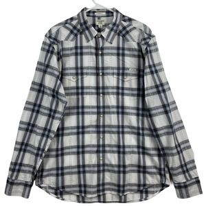 Lucky Brand Mens Western Style Shirt Classic Fit L